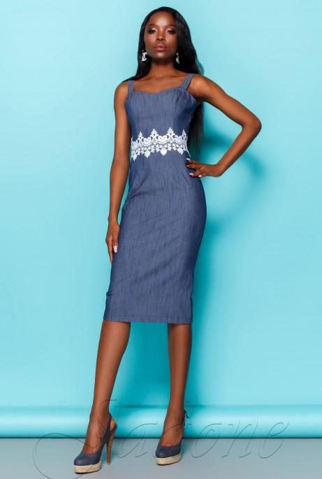 Платье Лиора тёмно-синий