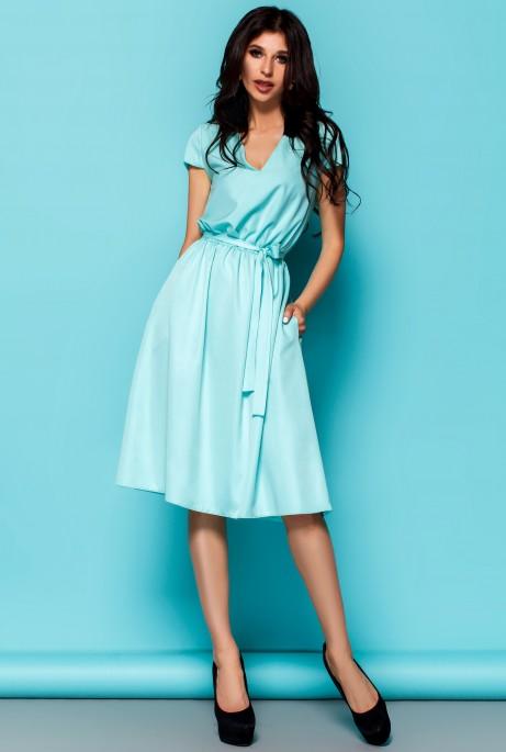 Платье Лина бирюзовый