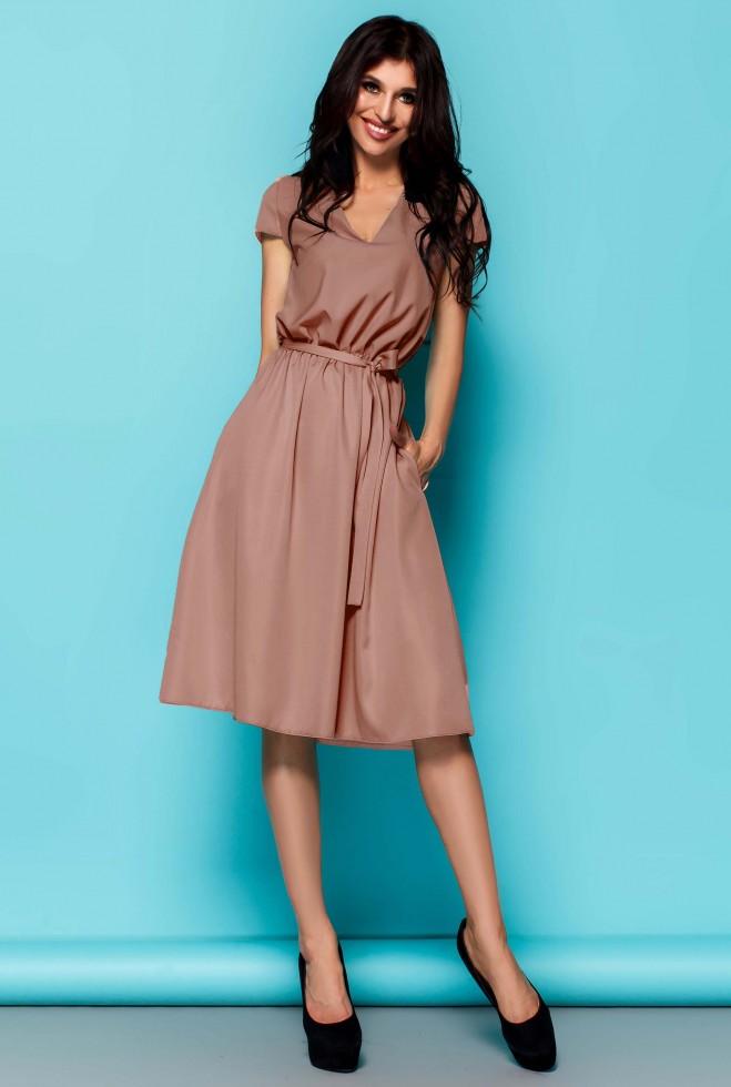Платье Лина бежевый