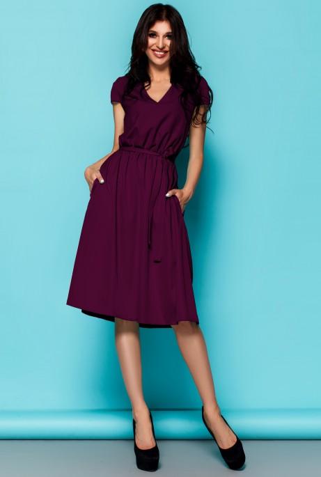 Платье Лина марсала