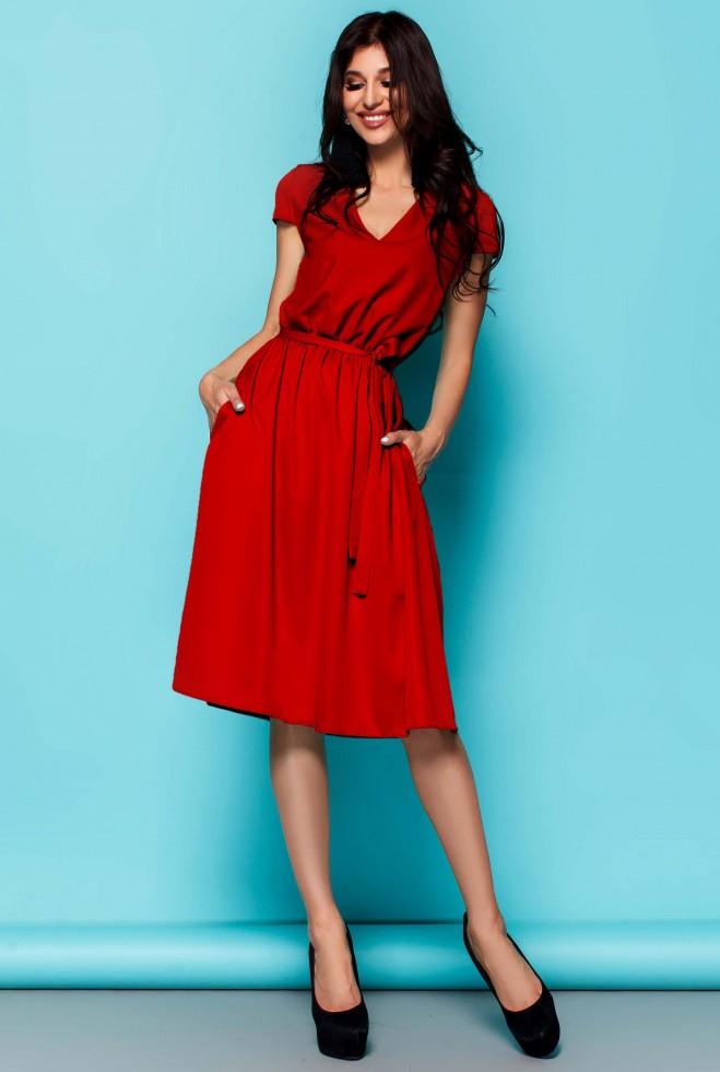 Платье Лина красный