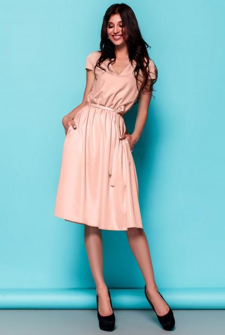 Платье Лина персиковый