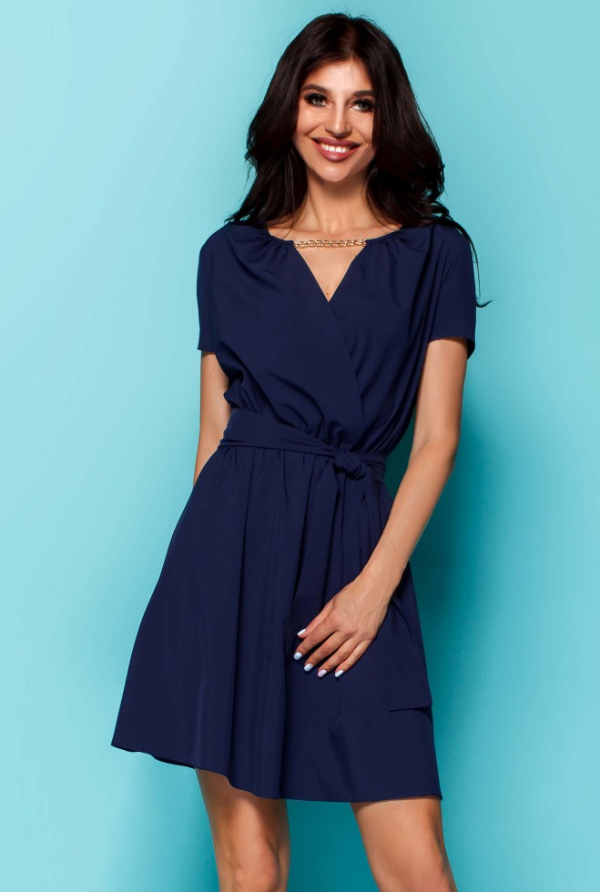 Платье Мелиса тёмно-синий Жадон