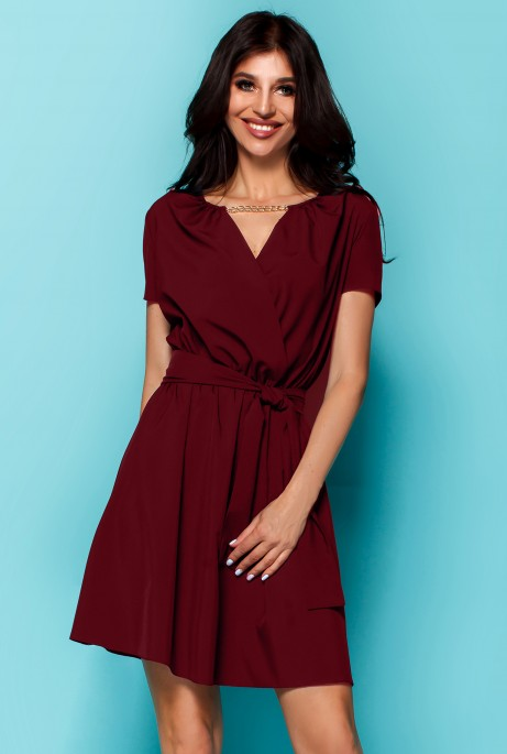 Платье Мелиса бордовый