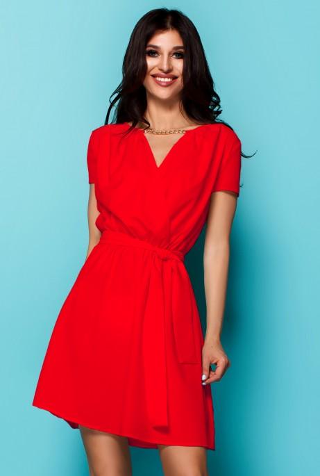 Платье Мелиса красный