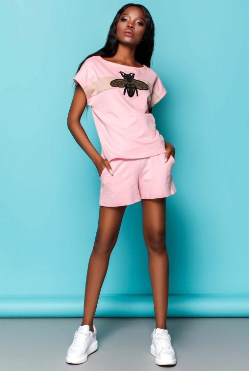 Костюм Пурино с шортами розовый