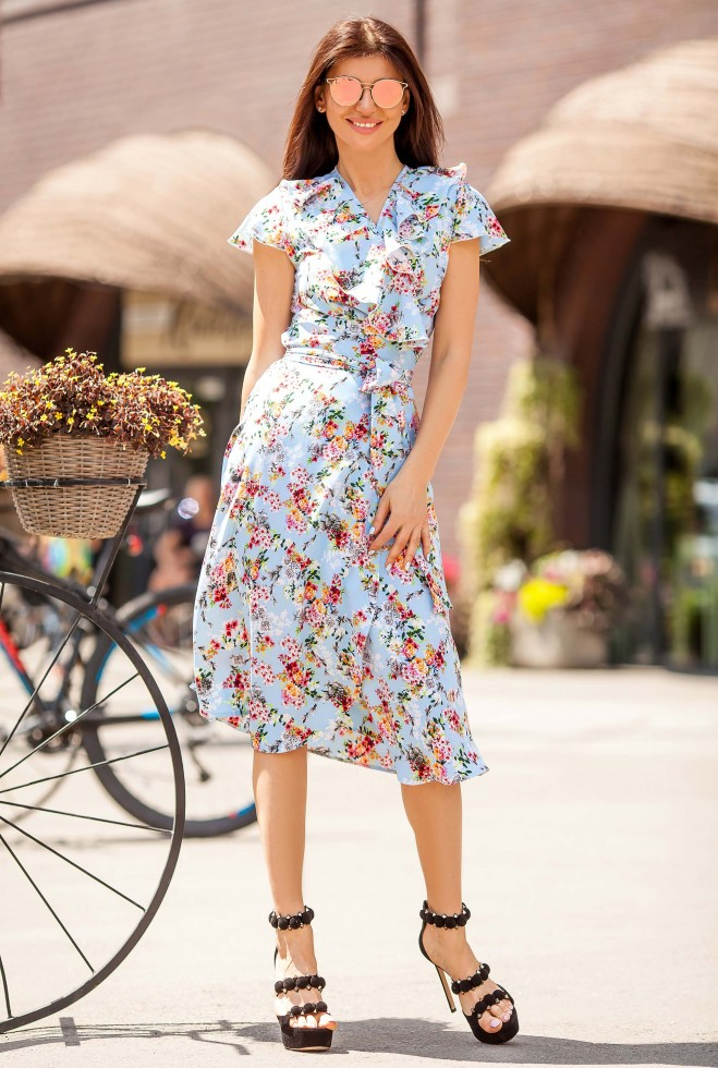 Платье Силин 1 голубой