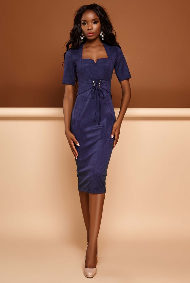 Платье Виолетта тёмно-синий