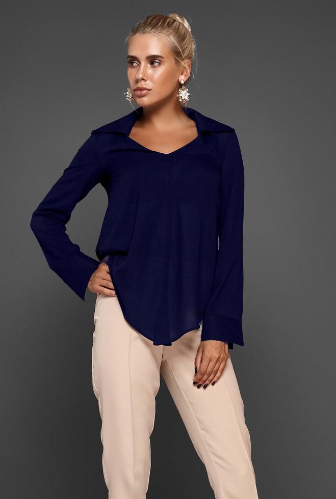 Блуза Октавия тёмно-синий