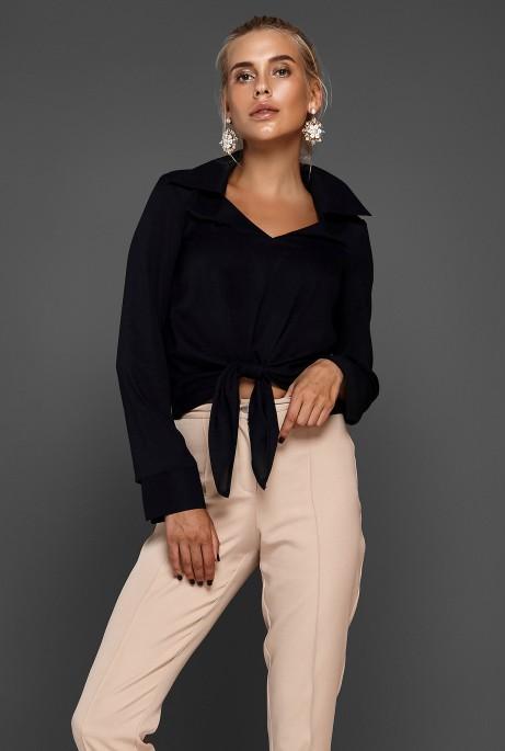 Блуза Октавия черный