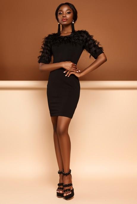 Платье Рошель черный