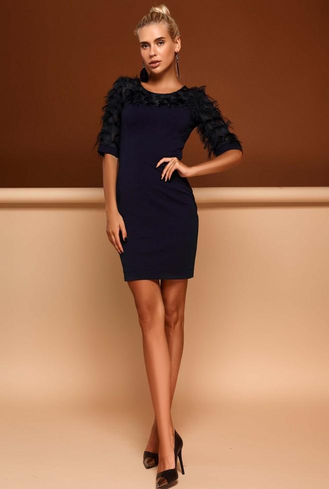 Платье Рошель тёмно-синий