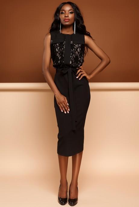 Платье Дива черный