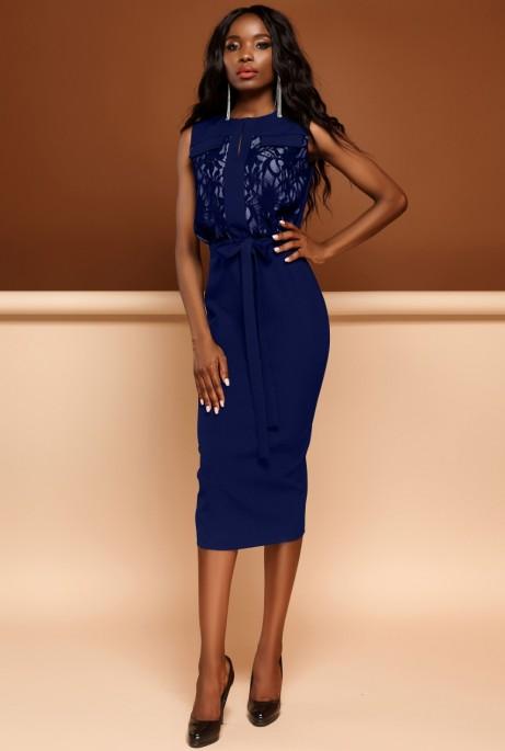 Платье Дива тёмно-синий