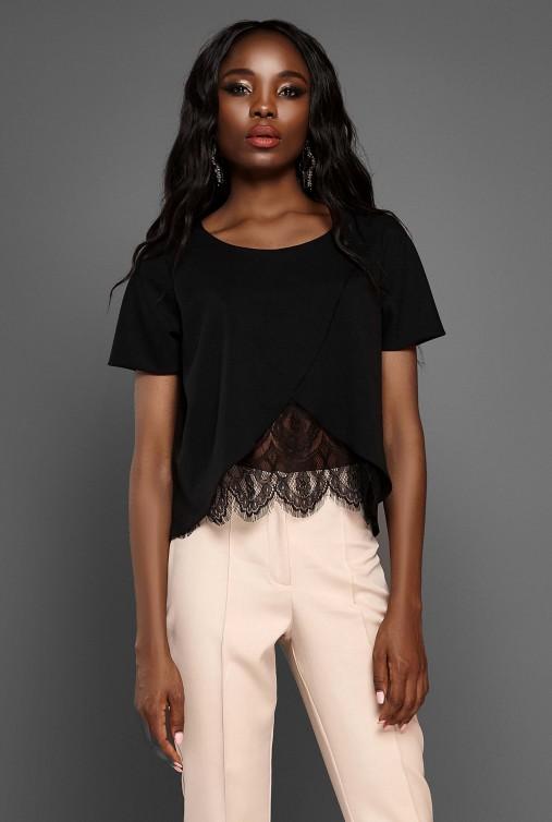 Блуза Силия черный