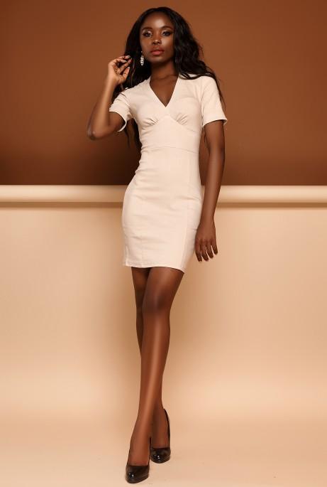 Платье Стейси бежевый