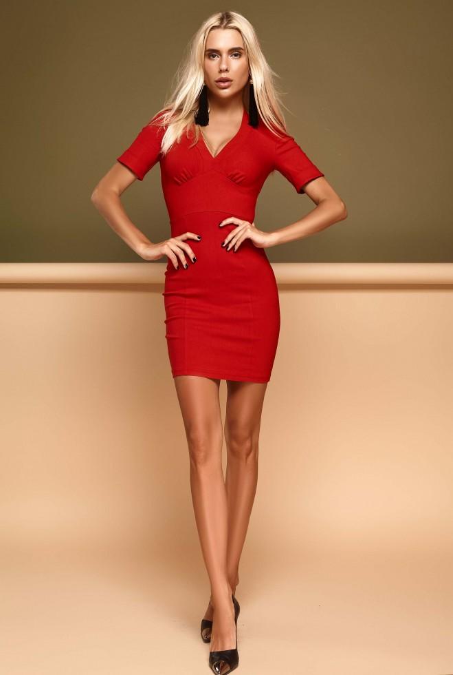 Платье Стейси красный