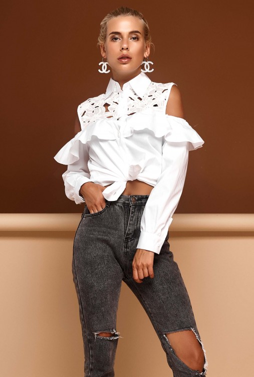 Блуза Барбара белый