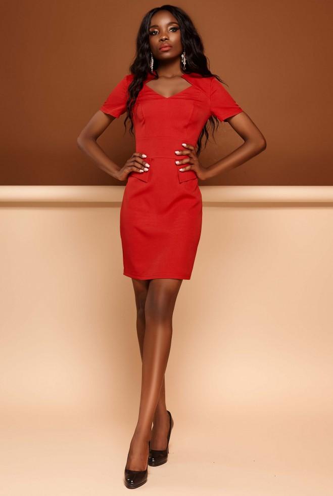 Платье Кендал красный