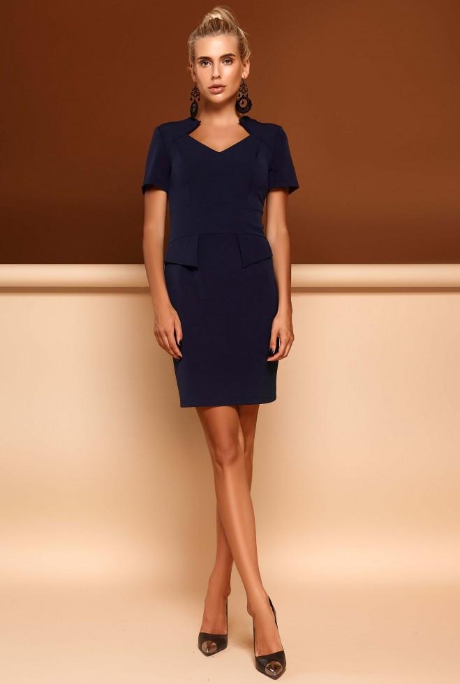 Платье Кендал тёмно-синий