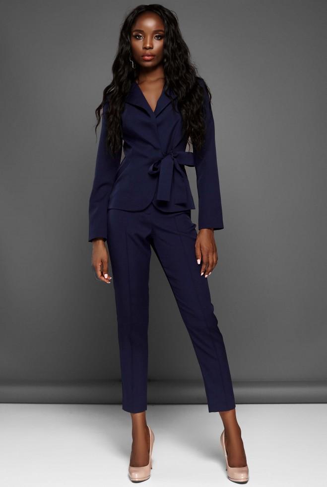 Костюм Эллери с брюками тёмно-синий