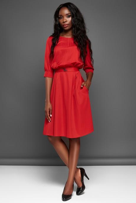 Платье Бетти красный