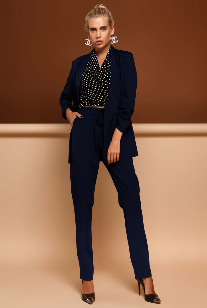 Костюм Фейт с брюками тёмно-синий