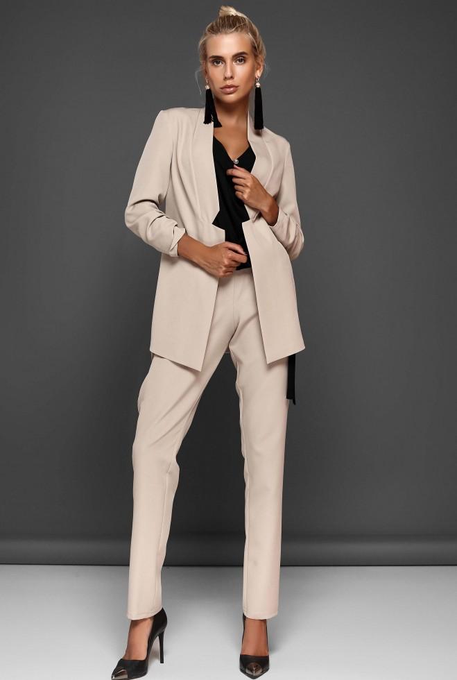 Костюм Фейт с брюками бежевый