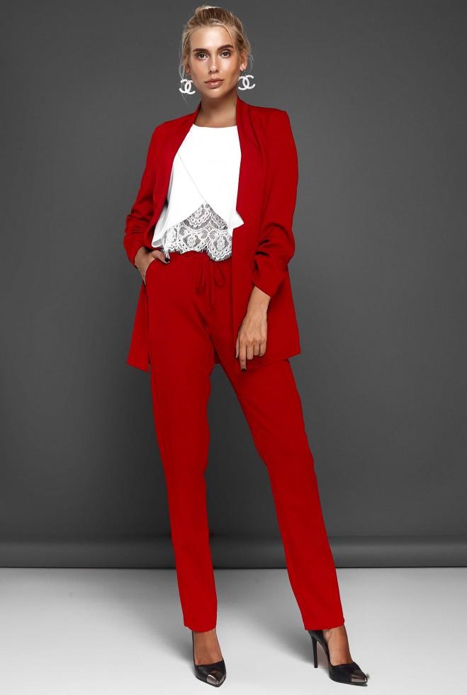 Костюм Фейт с брюками красный