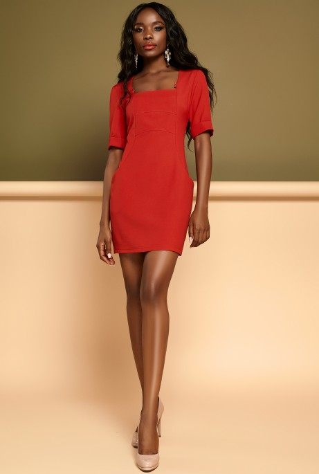 Платье Мия красный