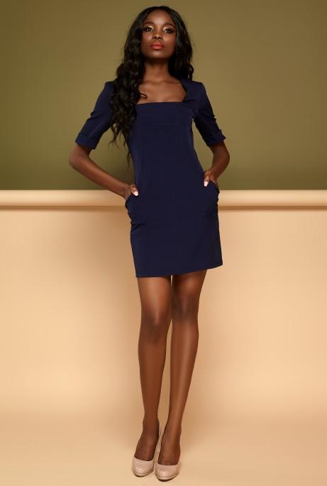 Платье Мия тёмно-синий