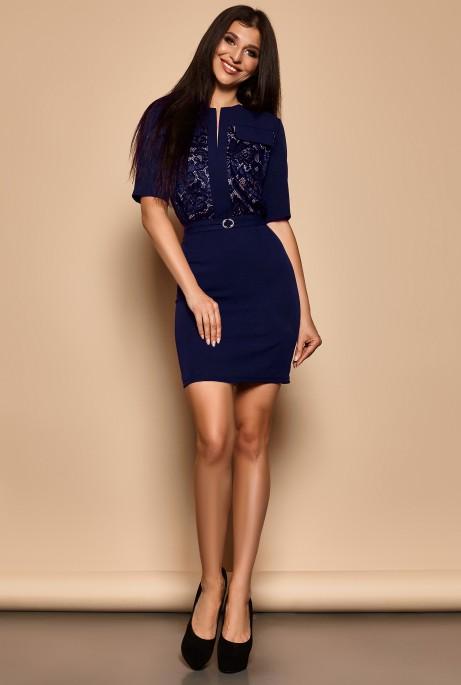 Платье Эллен тёмно-синий