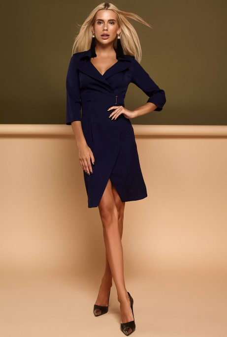 Платье Эсми тёмно-синий