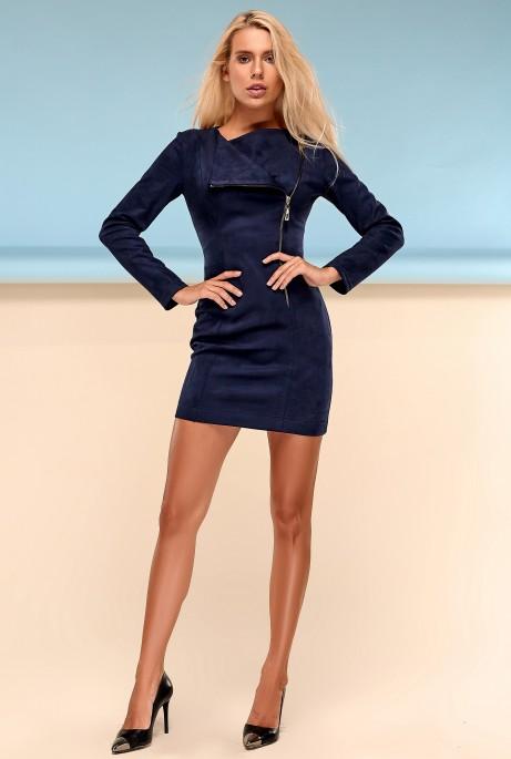 Платье Гайа тёмно-синий