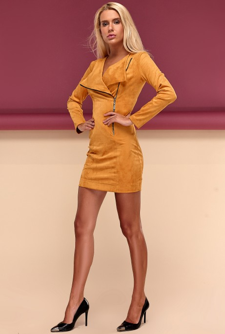 Платье Гайа горчица