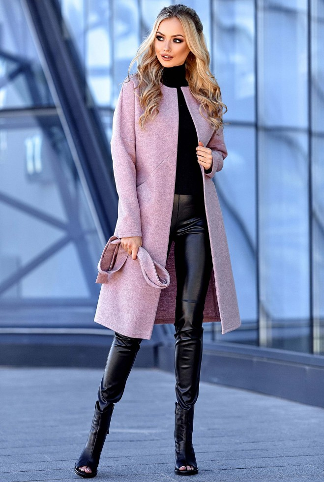 Облегченное пальто Джоун пудра