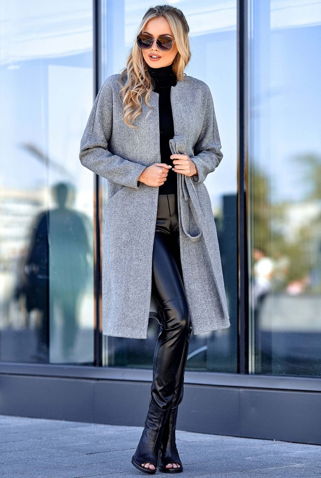 Облегченное пальто Джоун серый