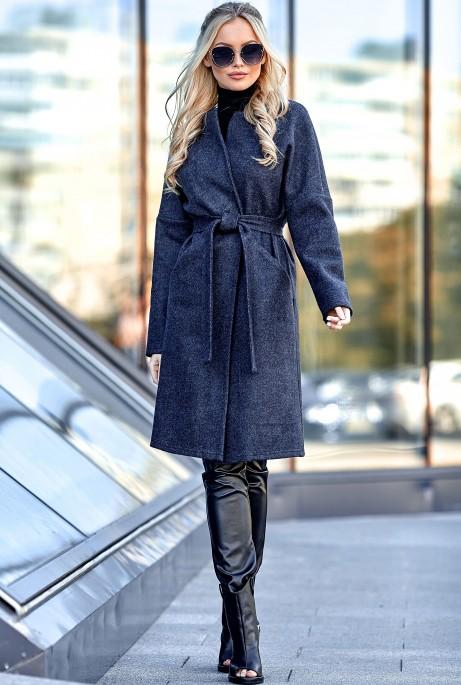 Облегченное пальто Джоун тёмно-синий