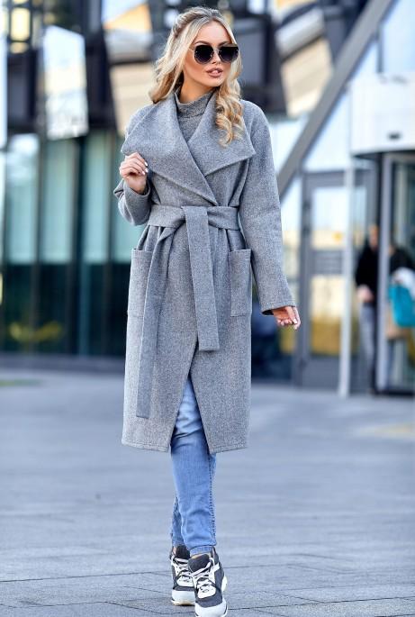 Облегченное пальто Мейли серый