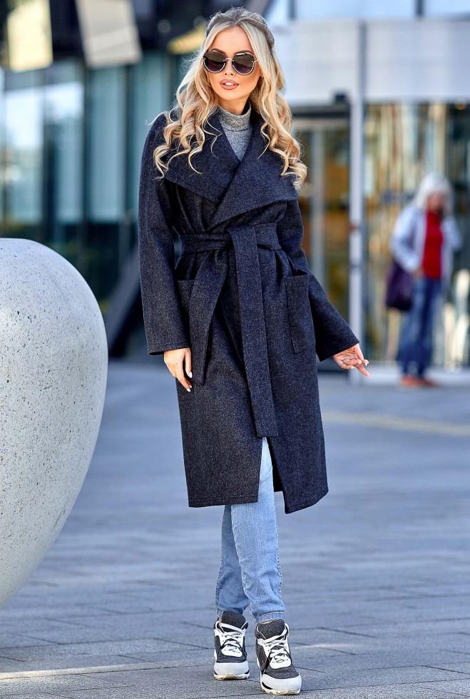 Облегченное пальто Мейли тёмно-синий