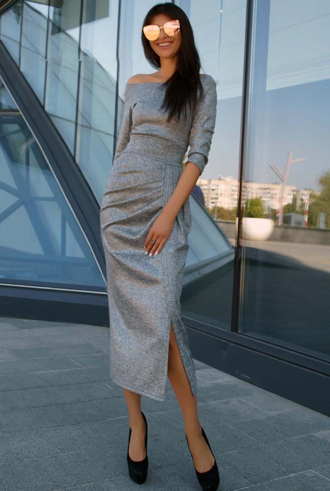 Платье Бьянка серый
