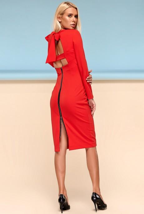 Платье Заира красный