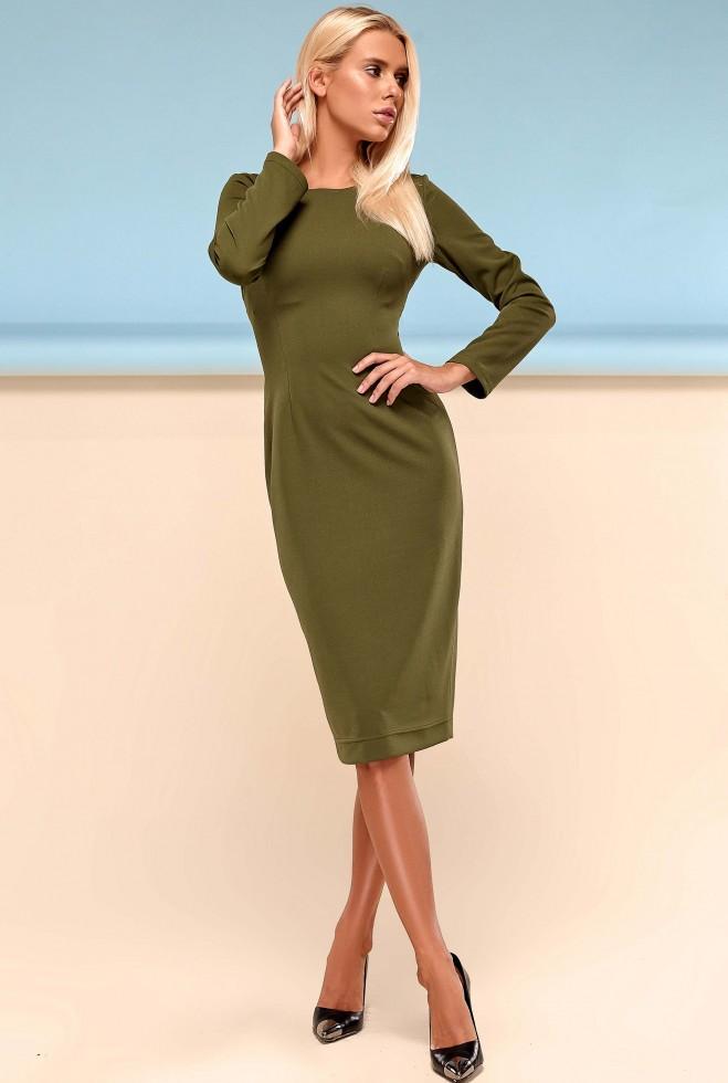 Платье Заира хаки Жадон