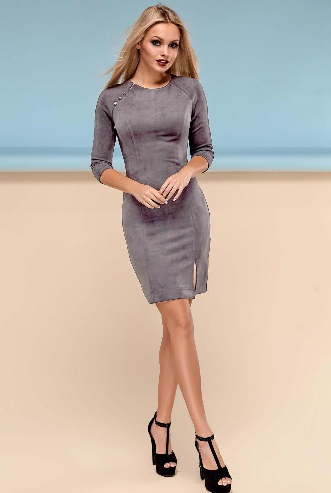 Платье Медисон серый