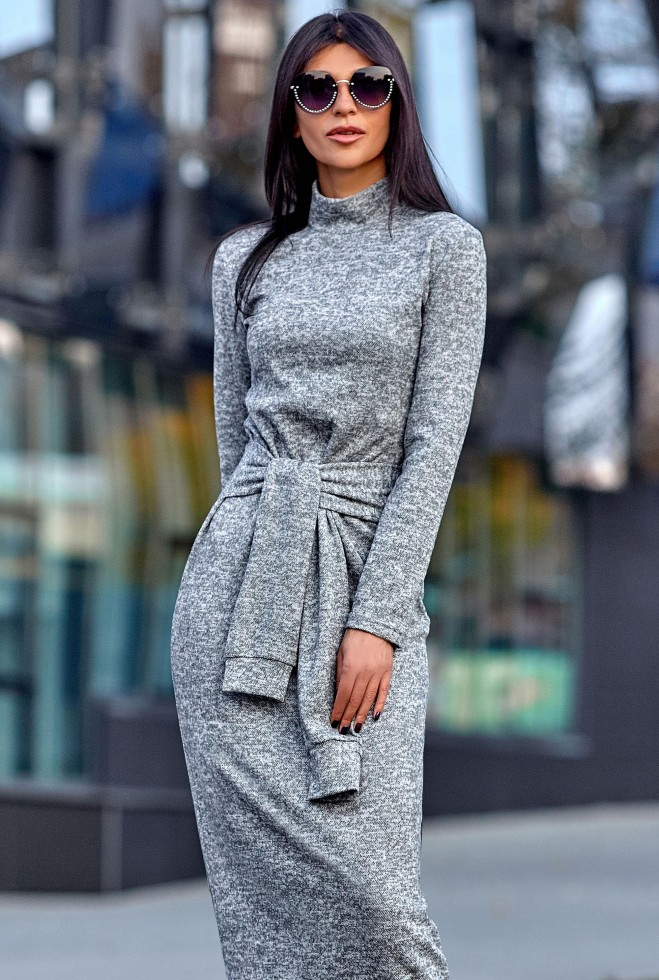 Платье Линда серый