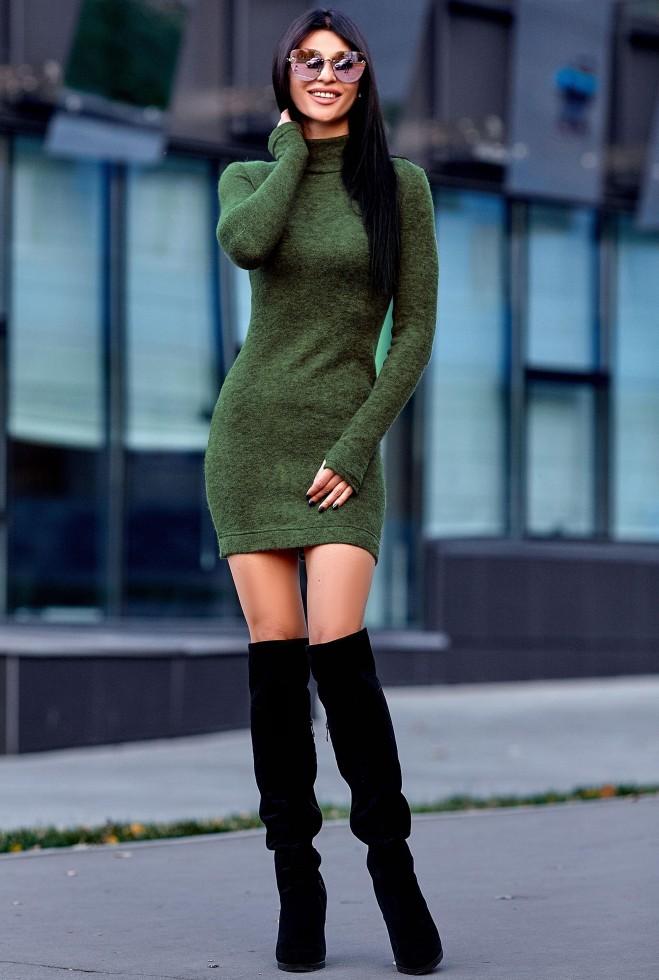 Платье Айлин хаки Жадон