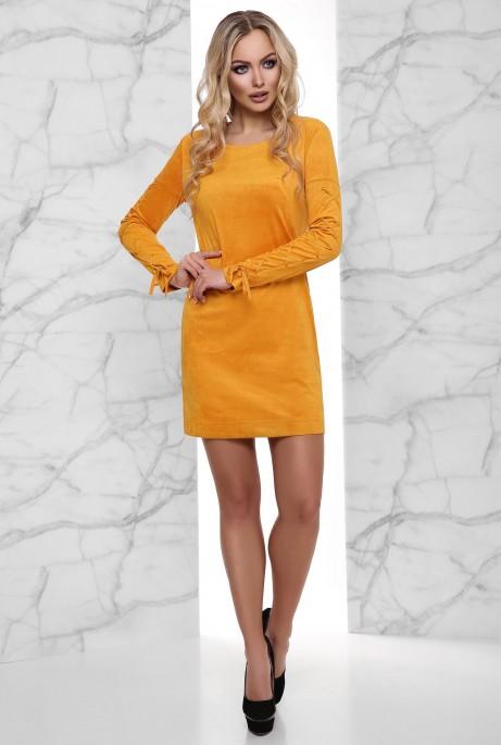 Платье Дениз горчица