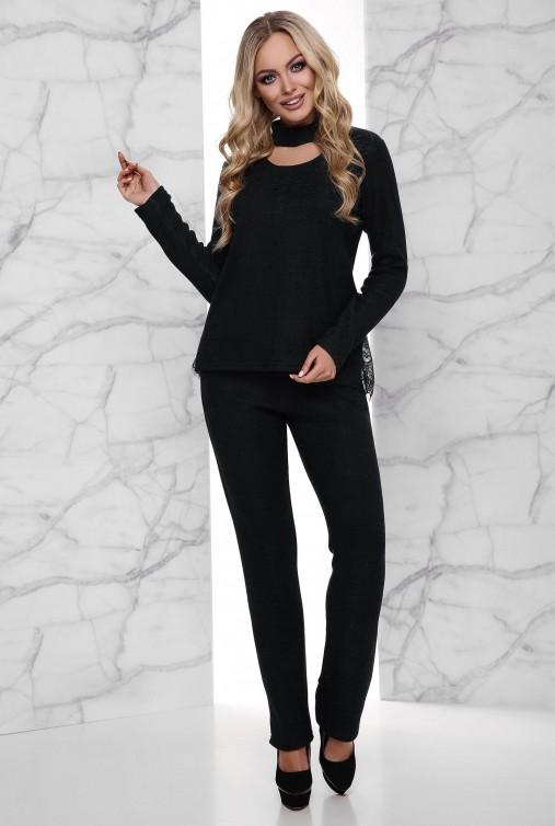 Теплый костюм Джули с начесом черный
