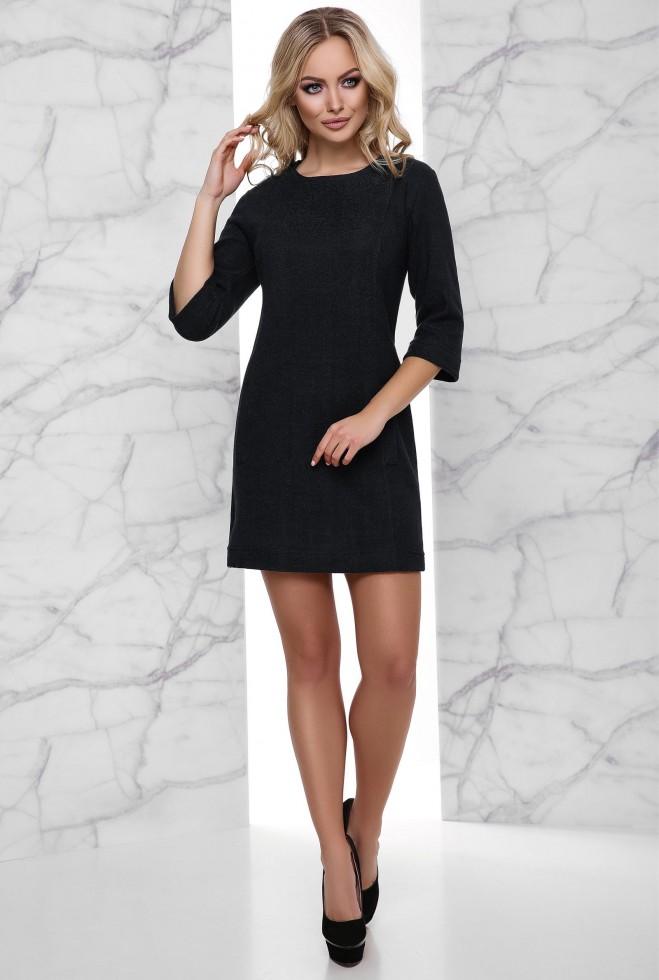 Теплое Платье Амина черный