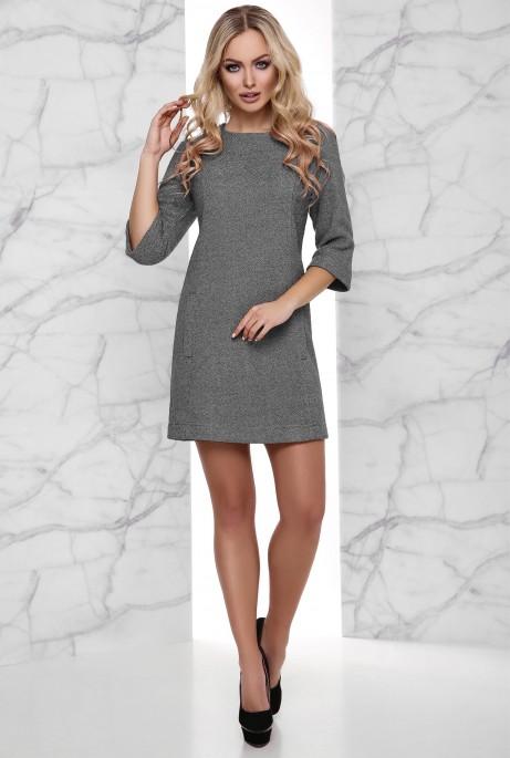 Теплое Платье Амина серый